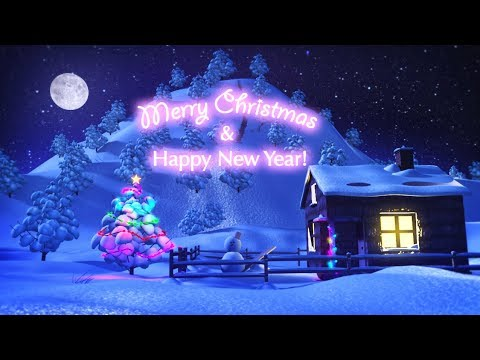 Merry Christmas and Happy New Year Animation Funny