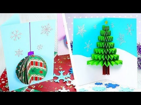 7 Creative Homemade Christmas Cards | Christmas Paper Crafts | Craft Factory
