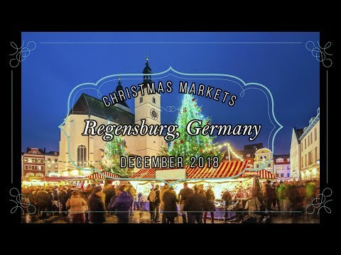 4K Christmas Markets in Regensburg, Germany - December 2018