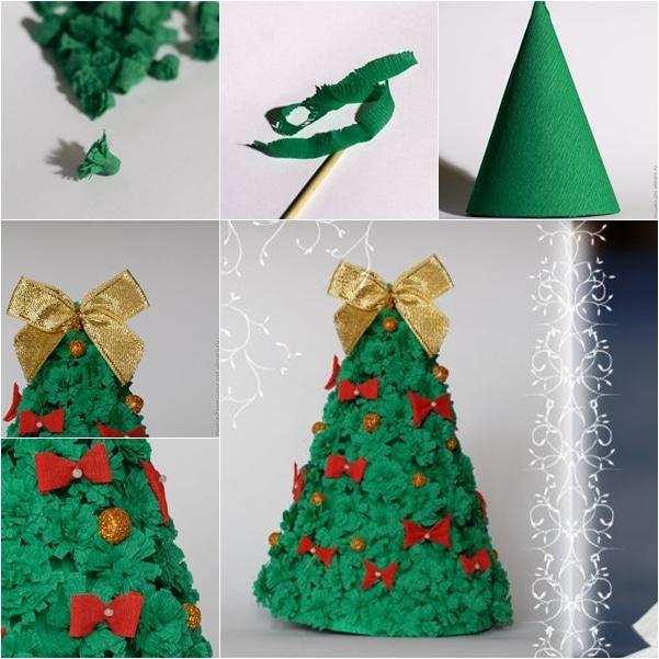 Jak vyrobit vánoční stromek z papíru.