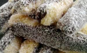 Recept na bezlepkové kokosové tyčinky máčené v čokoládě