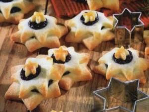 Recepty na dia vánoční cukroví - hvězdičy a mašličky