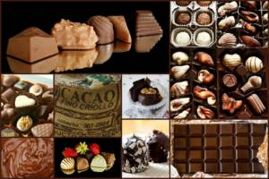 Cokoladove vanocni cukrovi z ruznych druhu cokolady