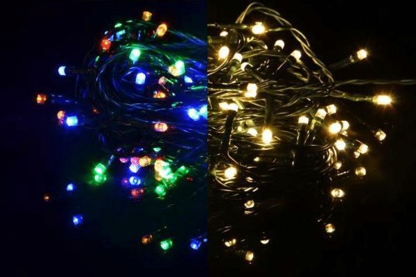 Řetěz barevný blikající – 40 m