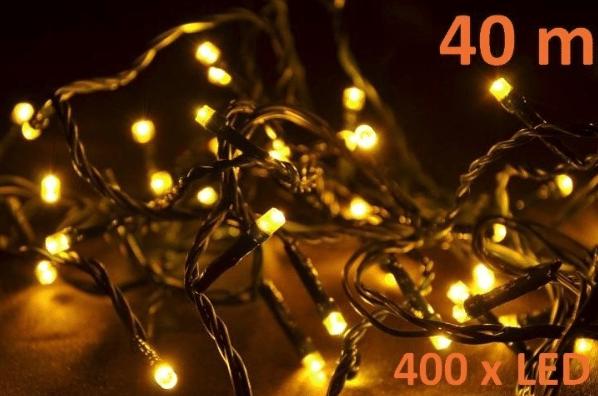 Řetěz teplá bílá – 40 m