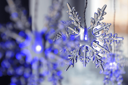 Sněhové LED vločky