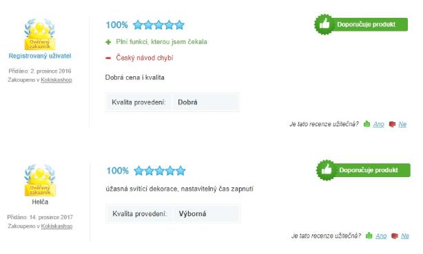 recenze vánoční osvětlení