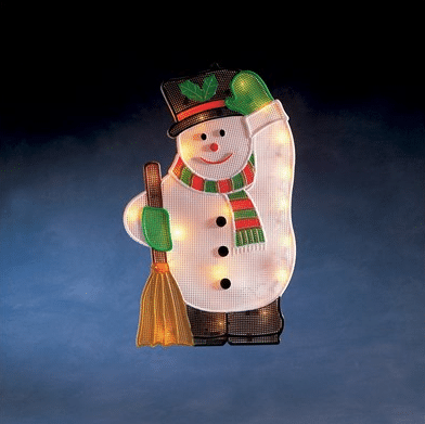 vánoční sněhulák osvětlení