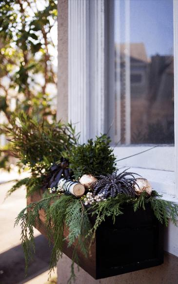 Dekorativní vánoční truhlík