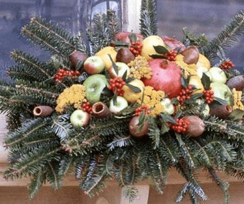 Ovocná vánoční dekorace