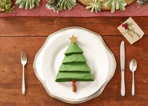 Netradiční vánoční prostírání