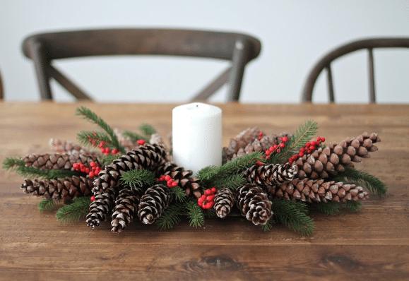 Vánoční věnec z větví