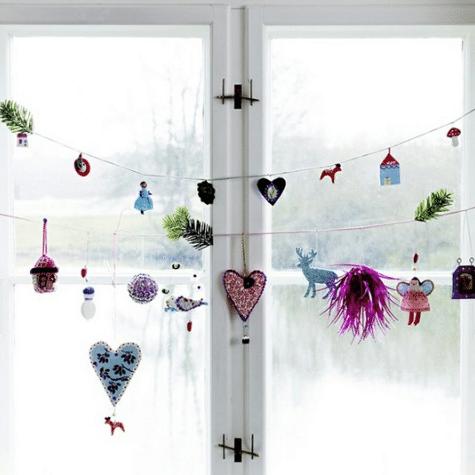 Vánoční papírové ozdoby do oken