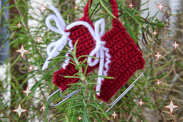 Háčkované vánoční bačkůrky