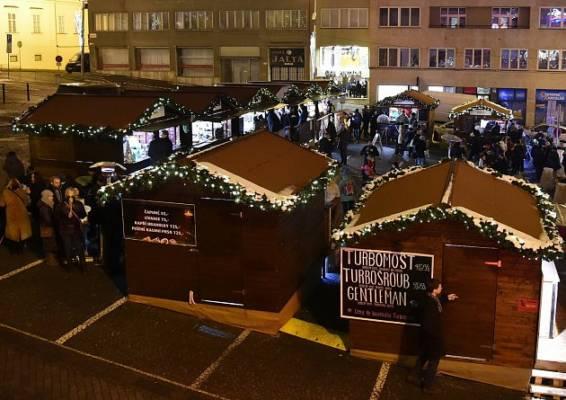 Vánoční trhy v Brně na Dominikánském náměstí
