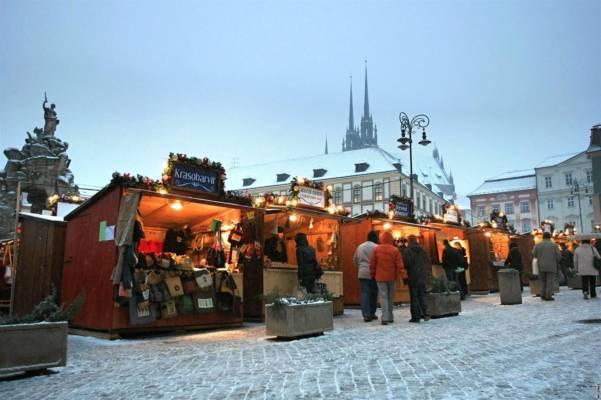 Vánoční trhy v Brně na Zelňáku