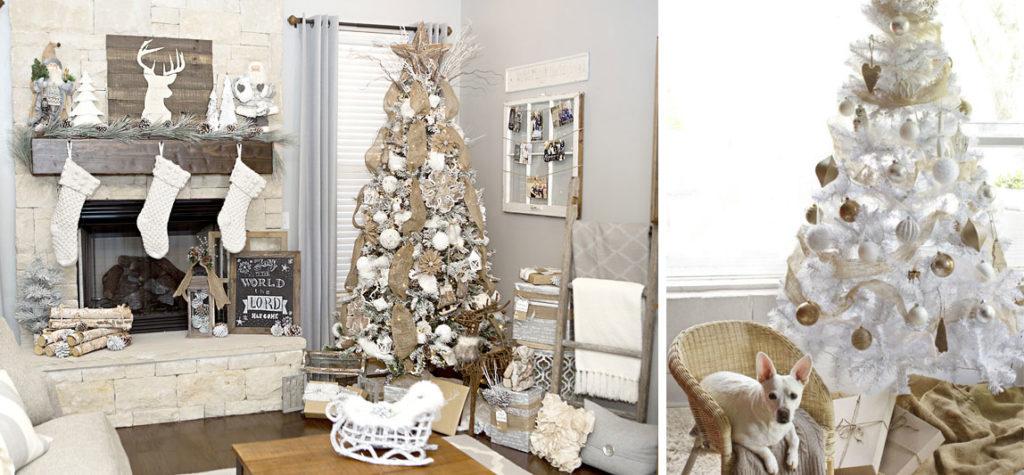 Bíle vyzdobený byt jako jasný trend letošních Vánoc.