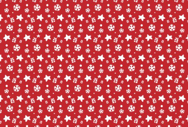 Červený balící vánoční papír.