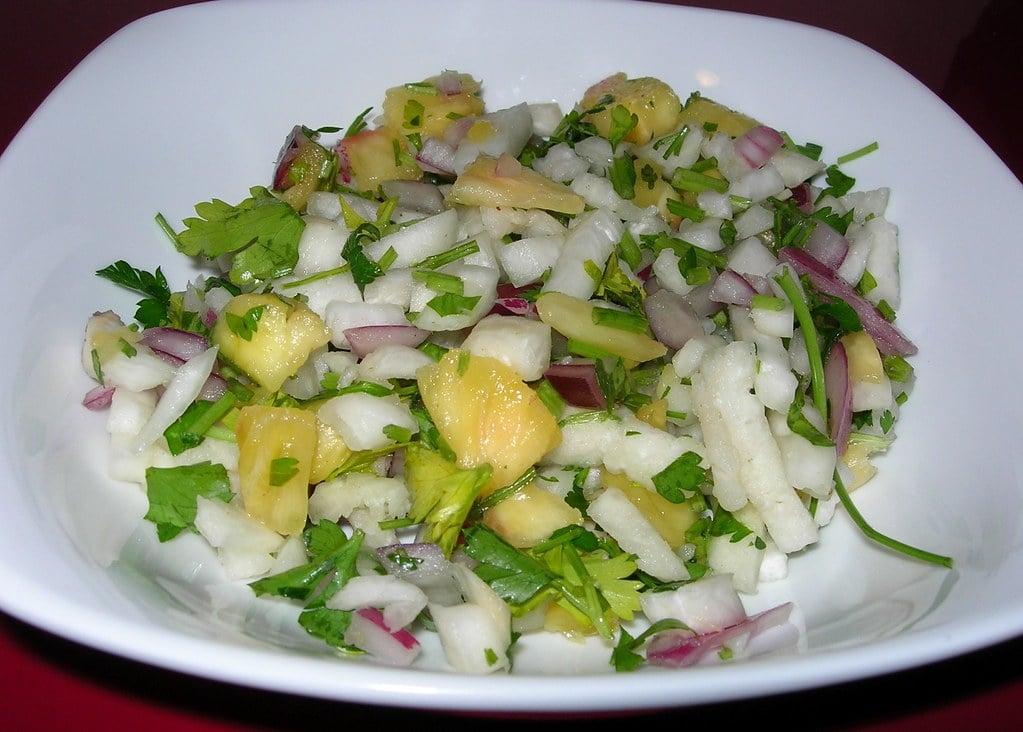 vyzkoušejte sladký ananasový salát z brambor