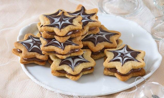 karamelovo-čokoládové hvězdičky