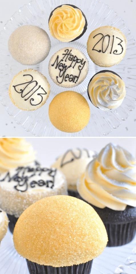 Recept na nejlepší novoroční muffiny s polevou - cupcakes.
