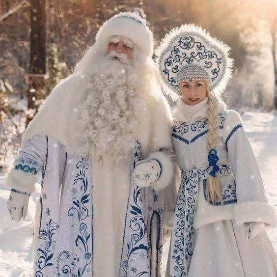 Ruské Vánoce - děda Mráz a Sněhurka.