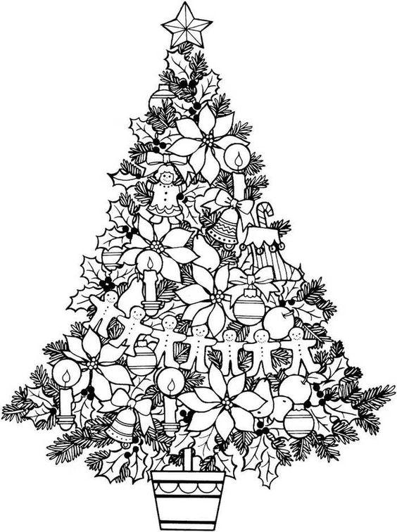 Vánoční stromeček - omalovánka do dopisu pro Ježíška
