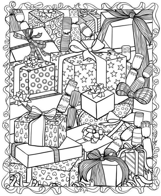 Vánoční omalovánka do dopisu pro Ježíška