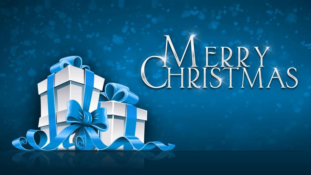 vánoční obrázkové přání s dárečky