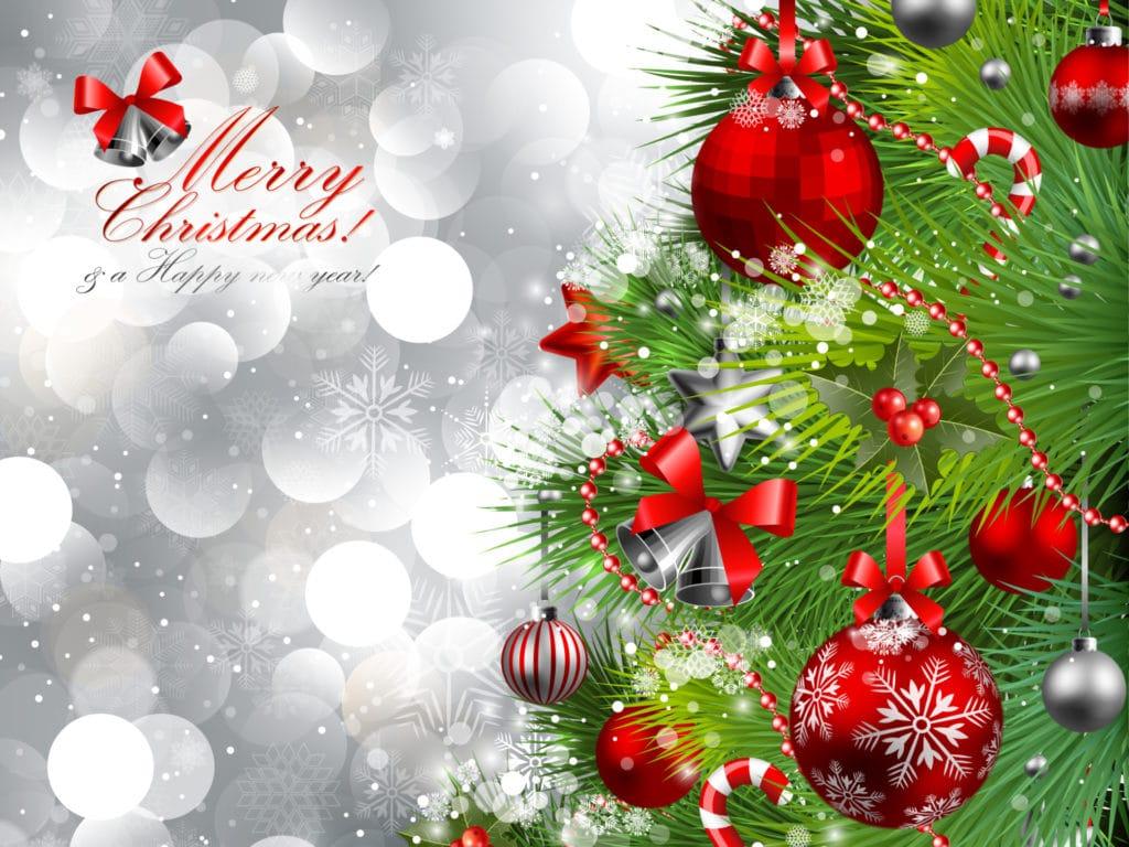 vánoční obrázek s přáním merry christmas