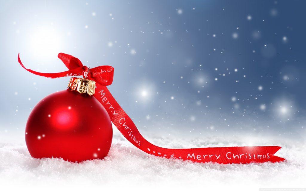 vánoční koule merry christmas na obrázku