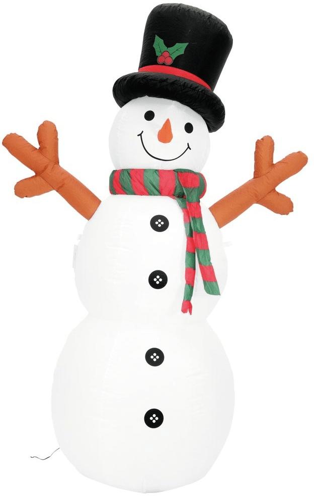 Nafukovací vánoční sněhulák do zahrady.