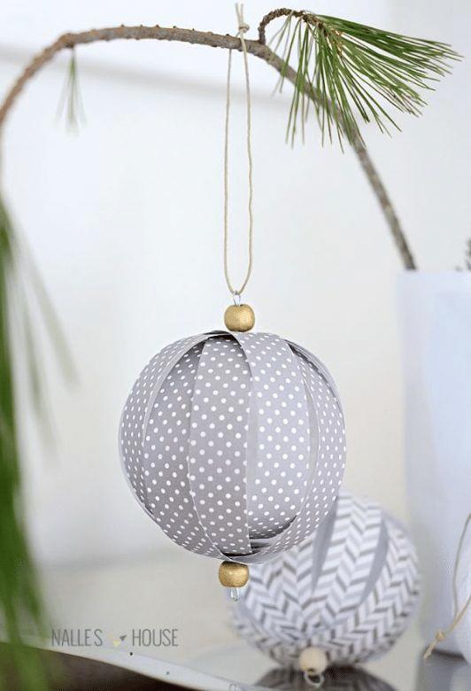 Návod na vánoční koule z papíru na stromeček.