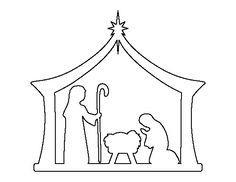 Vánoční betlém z papíru šablona k vytisknutí.
