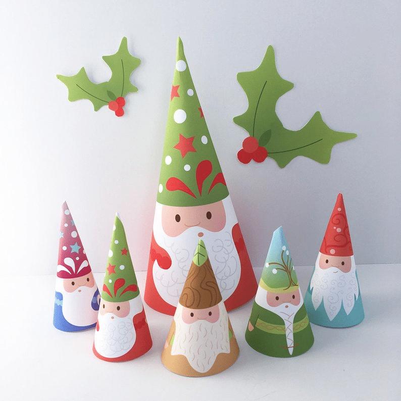 Jak si vyrobit vánoční skřítky z papíru dekorace.