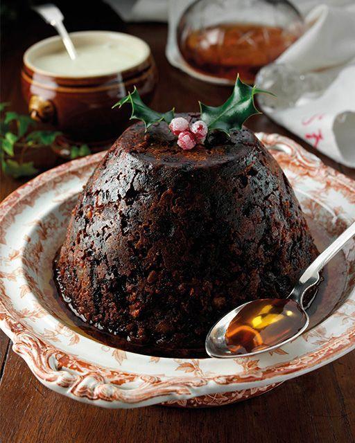 Americký vánoční pudding.