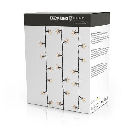 Vánoční světelný LED řetěz pro vnitřní i venkovní použití.