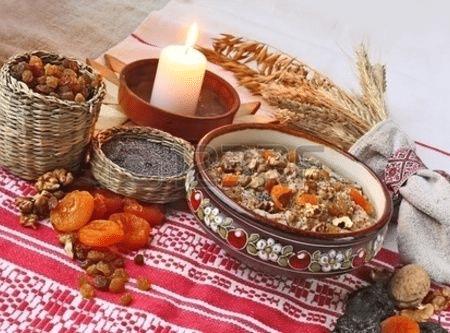 Tradiční ruské vánoční jídlo- sochivo.