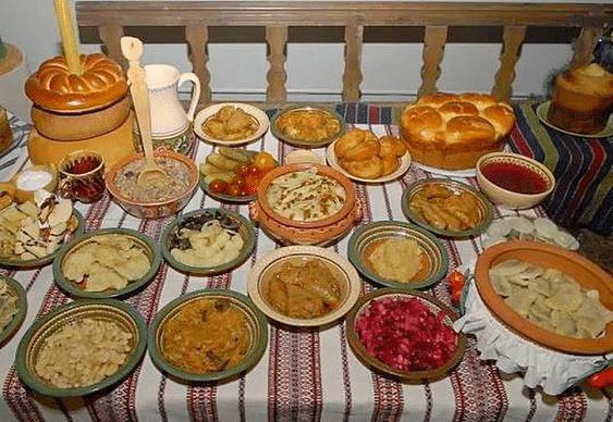 Ruské vánoční jídlo.