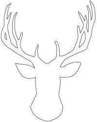 Šablona obrys jelena na obraz.