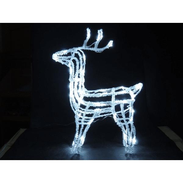 Minimalistický vánoční svítící sob na ven i dovnitř.