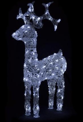 Vánoční LED osvětlení sob s ledovým efektem.