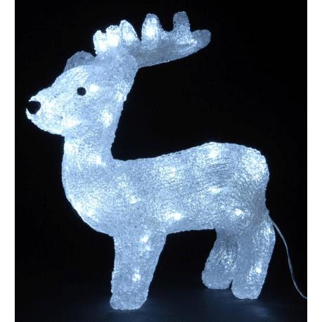 Vánoční svítící LED sob do exteriéru.