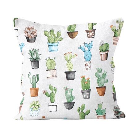 Povlak na polštář s kaktusy.