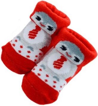 Vánoční tučňáčci na kojeneckých ponožkách