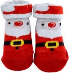Ponožky pro kojence se Santa Clausem