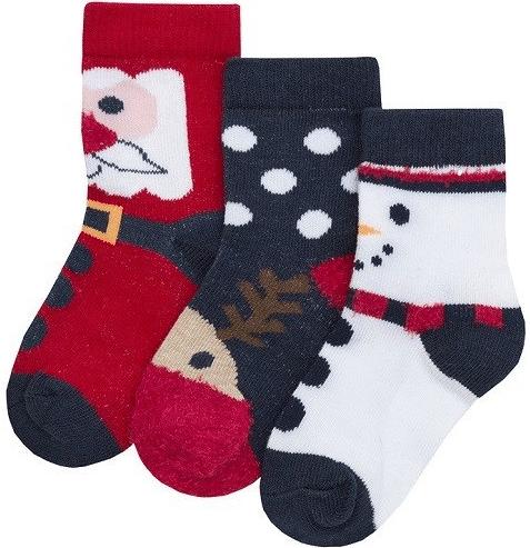 Sada vánočních ponožek pro děti