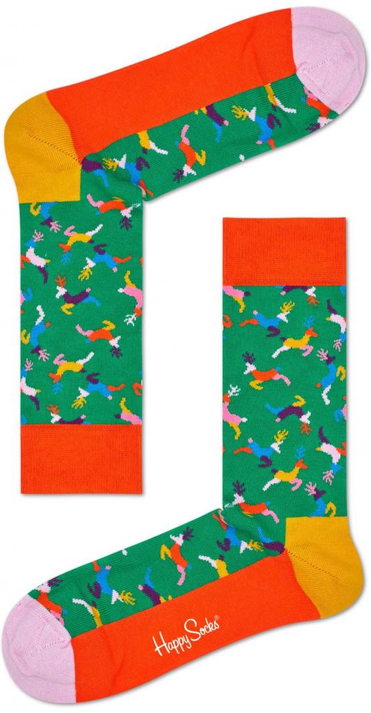 Dámské vánoční ponožky s jeleny či soby.