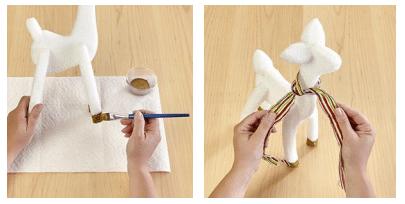 Návod jak si vyrobit vánočního soba.