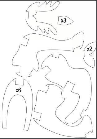 Návod na výrobu třpytivého soba- šablona dekorace.